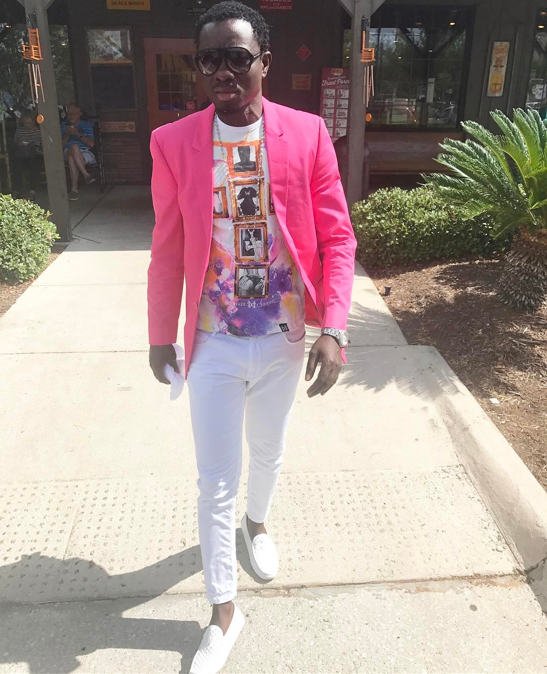Michael Blackson Instagram username