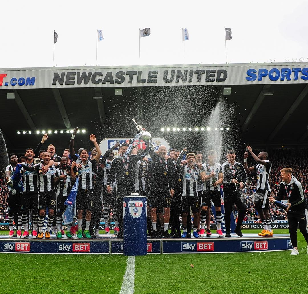Newcastle United F.C. Instagram username