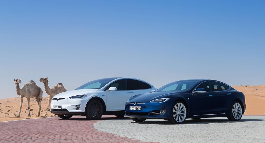 Tesla Motors Instagram username